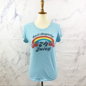 Juicy Couture Surf Royalty 74 Graphic Tee L